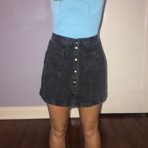a black BDG by Urban Outfitters jean skirt